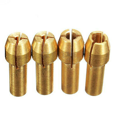 4pcs Rotary Multi Tool Collet Nut Kit Set for 0.8/ 1.6/ 2.35/ 3.2MM Y4G7