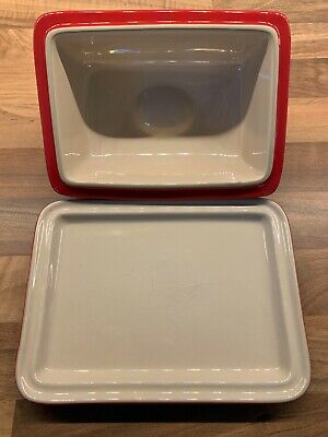 Le Creuset Butter Dish Cerise Red. Good Condition