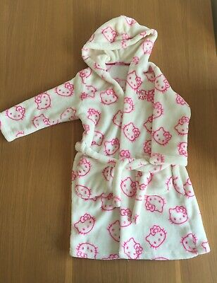 Girls Hello Kitty Dressing Gown Age 6-7