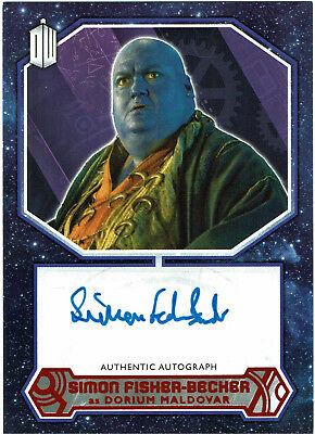 Doctor Who 2015 Autograph Simon Fisher-Beck Dorium Maldover Red Parallel #06/10