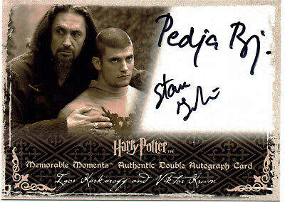 Harry Potter Memorable Moments 2 Autograph Card Pedja Bjelac Stanislav Janevski