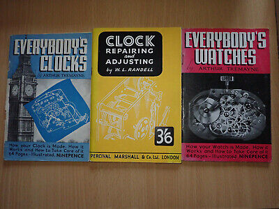 Everybody's Clocks / Watches by Arthur Tremayne, + Clock Repairing and Adjusting