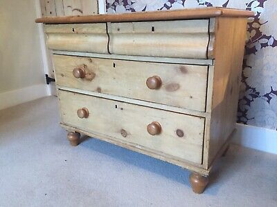 Antique Solid Pine 3- Tier Chest of Drawers. Beautifully made