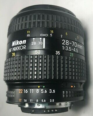 Nikon AF Nikkor 28-70mm f/3.5-4.5  Zoom Lens pre-owned Excellent Condition