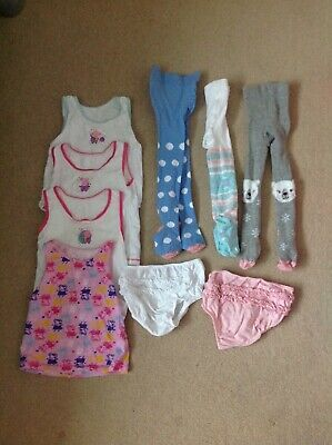 Girls Peppa Pig Vests X4 Tights X 3 Frilly Pants X2  18-24 Months 1 1/2-2 Years