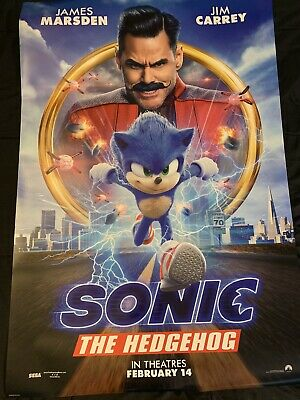 Sonic the Hedgehog 2020 Original D/S Movie Poster 27x40