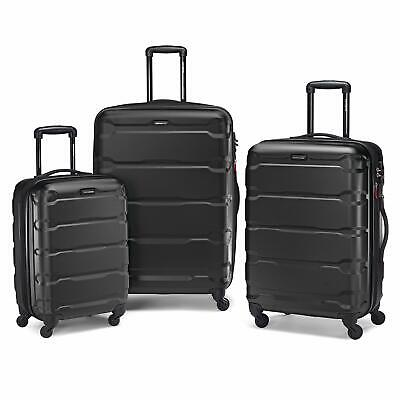 Samsonite Omni Hardside 3 Piece Nested Spinner Luggage Set (20,24,28 Inch) Black