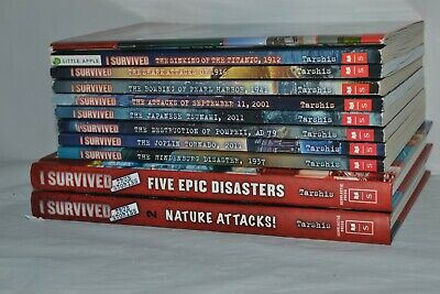 Lot of 11 I SURVIVED Series Set of Chapter Books 2 Hardcover True Stories
