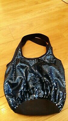 Girls Next  Navy Blue Sequin Bag  - Pre-owned