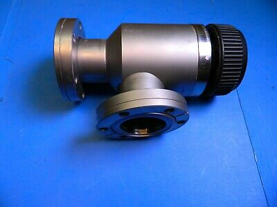 """Varian High Vacuum Valve Right Angle 2-3/4"""" Conflat"""