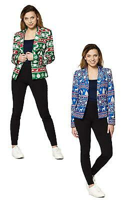 Suitmeister Womens Christmas Nordic Jacket/Blazer