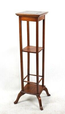 Vintage Oak Marble Top Plant Stand - FREE Shipping [5726]