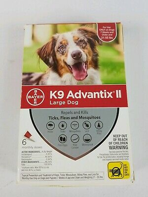 K9 Advantix II for Large Dogs over 55 lbs 6 Pack FREE SHIP