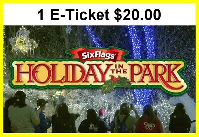 Six Flags New England Theme Park 1 Day Admission Ticket 20.00 Each E-Delivery