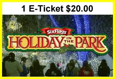 Six Flags America Theme Park 1 Day Admission Ticket $20.00  Each E-Delivery