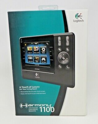 Logitech Harmony 1100 Touch Screen LCD Universal Advanced Remote - Complete