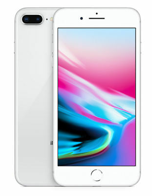 Apple iPhone 8 Plus - 64GB - Silver (Unlocked) A1897 (GSM) T-Mobile, AT&T