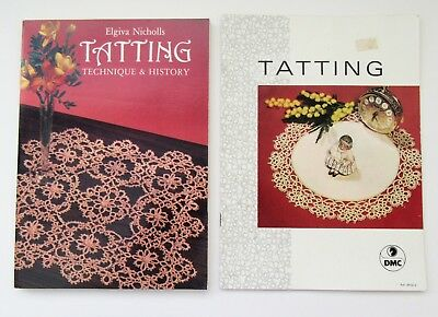 Tatting Book Set Technique and History How to and Patterns Lace Projects DMC