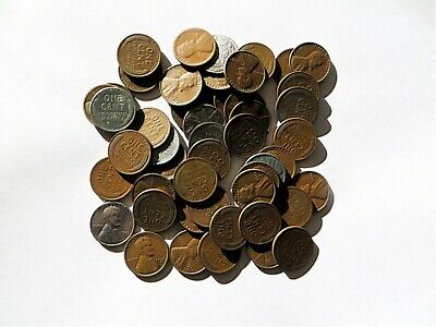 Mixed Lincoln Wheat Cent Roll - 50 Pennies