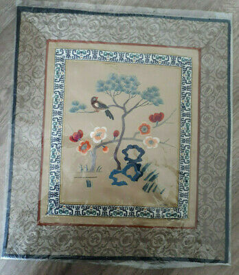 vintage chinese hand silk embridered panel Dun Huang