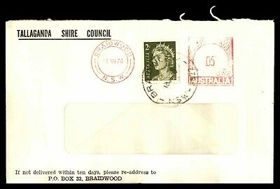 Mayfairstamps 1970 Australia Tallaganda Shire Council Metered Stamp Combo Cover