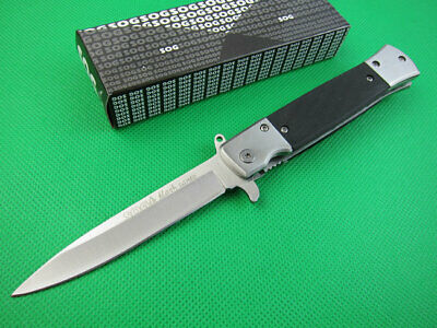 SOG Knife Assisted Opening Tactical Folding Blade Hunting Tool Stainless Steel