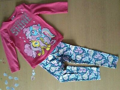 Tesco F&F My little Pony 3-4Y 104 cm long sleeve pink sequin Tee and leggings