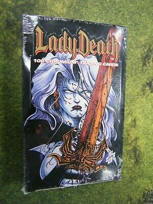 Lady Death Factory Sealed Box Chromium Trading Cards, 1994 Chaos! Comics