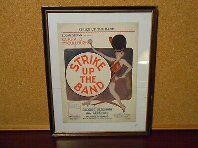 Vintage Framed Sheet Music Strick Up The Music Gershwin