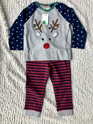 Mini Boden Fun Appliqué Reindeer Play Set  Christmas Toddler Boy 2-3 Years BNWT