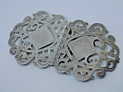Victorian STERING SILVER Belt Buckle. QUALITY !!!!!