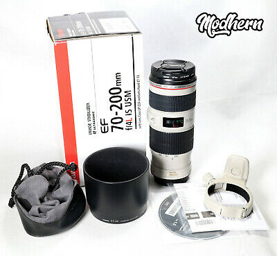 Canon EF 70-200mm F/4 L IS USM Zoom Lens - Boxed, Excellent