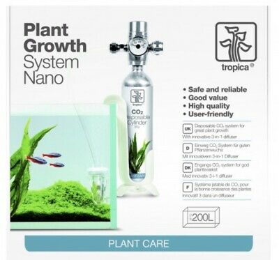 Tropica CO2 System Nano - Up To 200 Litres, Used, no canister
