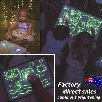 Draw With Light Fun And Developing Toys Luminous Pen Drawing Board Birthday Gift