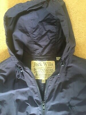 Girls Ladies Navy Blue Jack Wills Rain Hood Jacket Coat Size 8