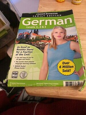 Learn How To Speak English With Instant Immersion Levels 1-3 Retail Box
