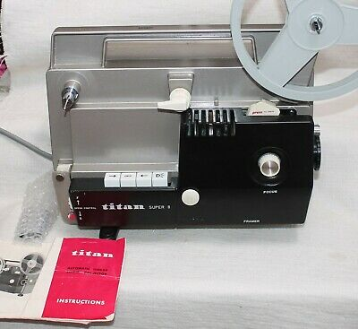 Titan Auto Thread Super 8mm Projector 95% as NEW ,TESTED , with org.book+ Box .