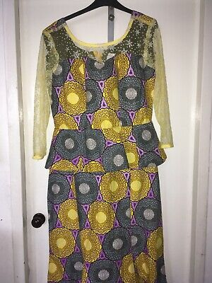 African Traditional Print Dress Size 14-18