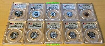 2018 S Silver Reverse Proof 50th Anniversary Set PCGS PF70 First Strike