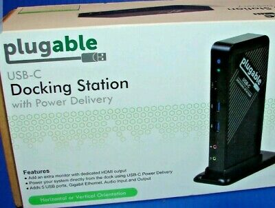 Plugable Single Monitor Docking Station with Power Delivery - USB-C to HDMI NEW