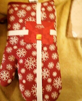 M&S Xmas Oven Mitts And 5 Tea Towels Bnwt