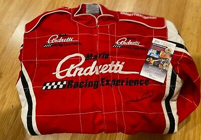 RARE Mario Andretti Signed Autographed Racing Fire Suit PHOTO PROOF