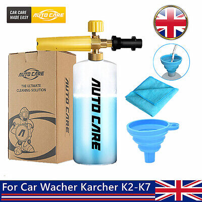 1L Snow Foam Lance Bottle Gun For Pressure Washer Karcher K2-K7 Car Wash Tool uk