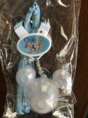 Disney Parks Light Up Glow Necklace Lanyard Crystal Mickey Icon 2019 New