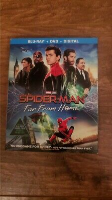 Brand New! Spiderman Far From Home Marvel 2019 Bluray+Dvd+Digital With Slipcover