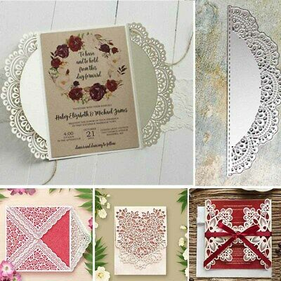 Lace Flower Cutting Dies Stencil DIY Scrapbooking Papers Embossing Decora C I1T3