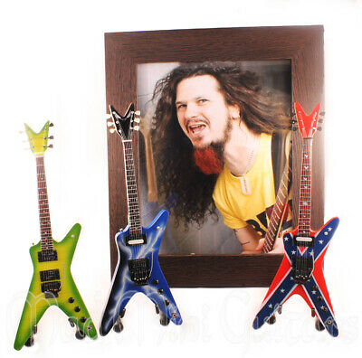 Miniature Guitars DIMEBAG DARRELL with Stand + Photo + Frame 8x10 inches PANTERA