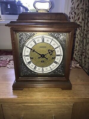 Hamilton WHITEHALL Walnut Bracket Clock- Westminster Chimes- Beautiful & Working