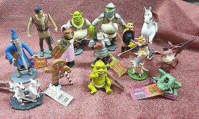 Collectable Shrek Movie Figurines Lot Of 14 All Different