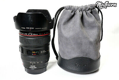 Canon EF 24-105mm F/4.0 L IS USM Zoom Lens + Pouch